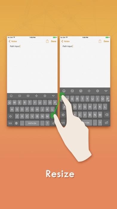 Path Input: Eine bessere Swipe-Tastatur Screenshot