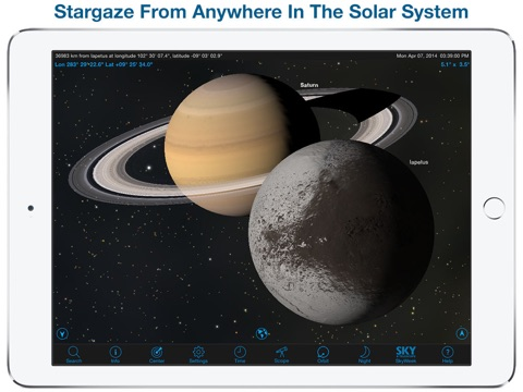 SkySafari 4 Plus: Map the Universe!  Discover Sun, Moon, Mars, Stars, Planets, and Satellites with your telescope and NASA space missions! Screenshot