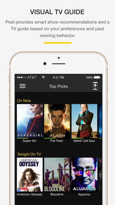 Screenshot do app Peel Smart Remote: TV guide & Universal Remote