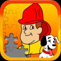Fireman JigSaw Puzzles - Animated Puzzles for Kids with Fun Firetruck and Firemen Cartoons in HD!
