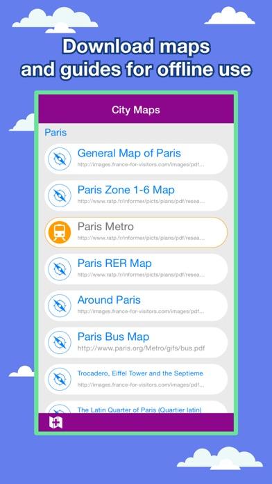 Screenshot Paris Cartes des Villes - Découvrez PAR Metro, Bus
