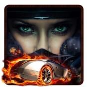 Racing Car On Fire