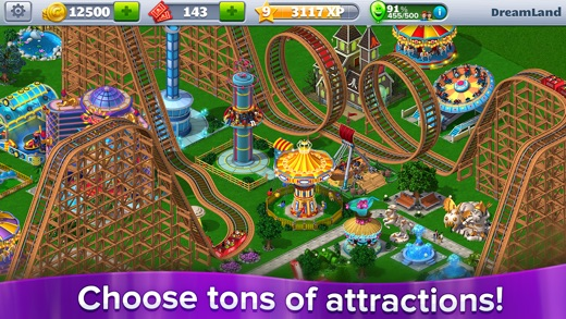 RollerCoaster Tycoon® 4Mobile™ Screenshot