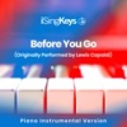 iSingKeys - Before You Go (Lower Key - Originally Performed by Lewis Capaldi)width=