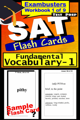 SAT Test Prep Essential Vocabulary 1 Review--Exambusters Flash Cards--Workbook 1 of 9 - SAT Exambusters
