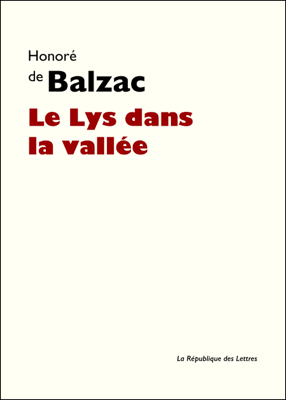 Le Lys dans la vallée - Honoré de Balzac pdf download
