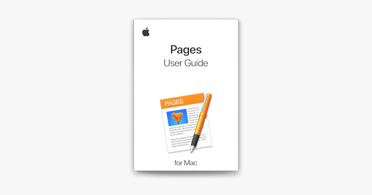 Pages User Guide for Mac on Apple Books