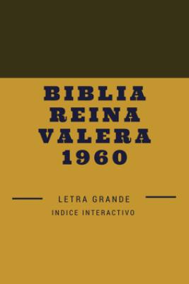 Biblia reina valera 1960 Letra grande - Anónimo