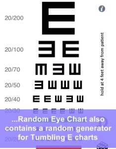 Random eye chart generator screenshot also by dok llc rh appadvice