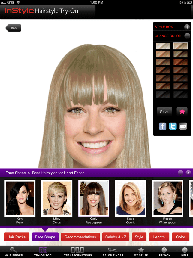 InStyle Hairstyle TryOn on the App Store