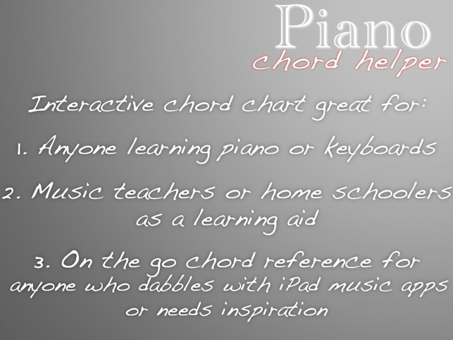 Piano Chord Helper on the App Store
