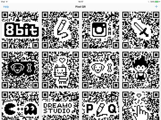 Pixel QR Screenshot