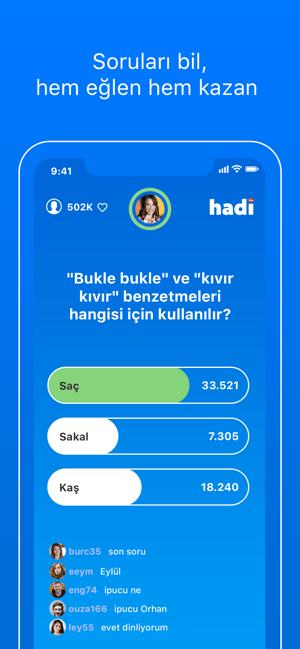 Hadi - Bilgi Yarışması Screenshot