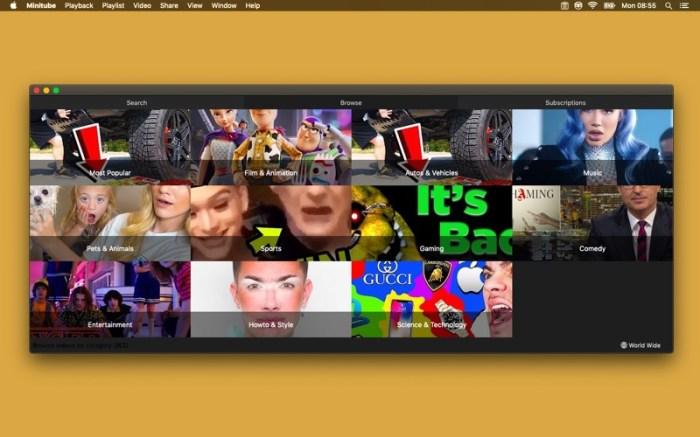 Minitube for YouTube Screenshot 08 9nlsbvn