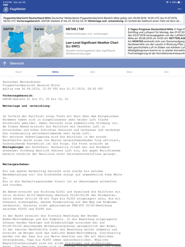 ‎DWD Flugwetter Screenshot