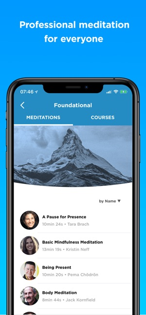 The Mindfulness App Screenshot