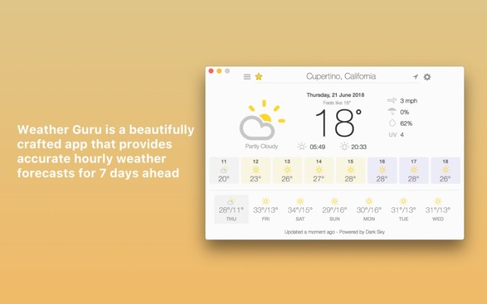 Weather Guru: Hourly Forecasts Screenshot 01 58vdhmn