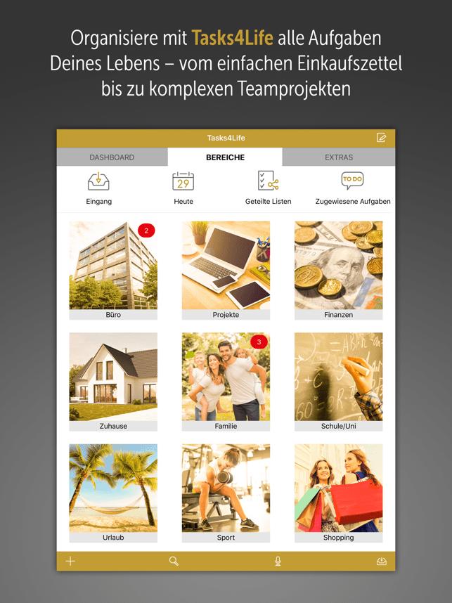 Tasks4Life für iPad Screenshot