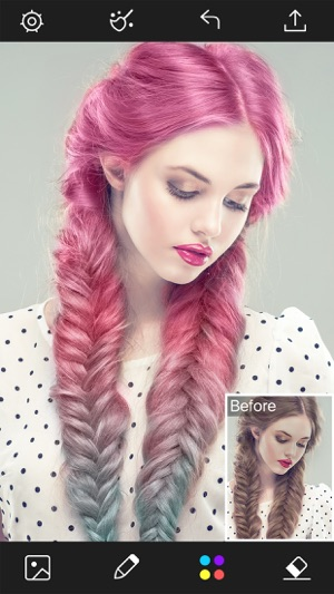 ‎Hair Color Changer - Styles Salon & Recolor Booth Screenshot