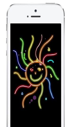 neon drawing effect lights pro app ipad iphone