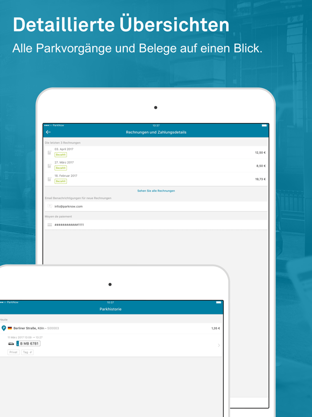 ParkNow - Parken per Handy App Screenshot