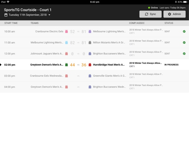 Courtside by SportsTG on the App Store