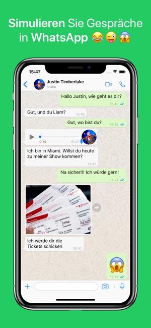 WhatsFake - Falsche Chats Screenshot