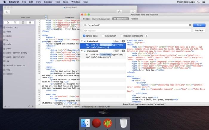 Smultron 12 - Text editor Screenshot 05 1f4qzmhn