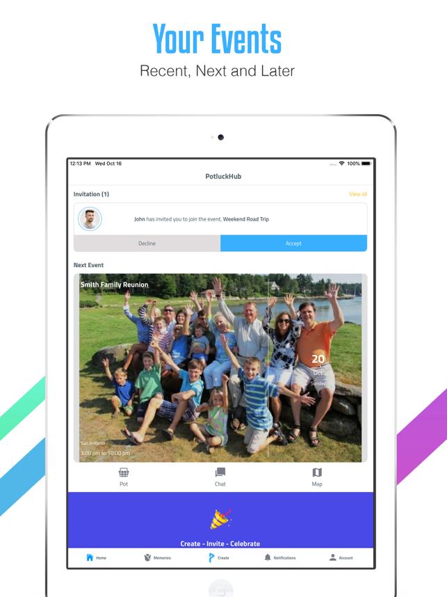 PotluckHub-Party Planner Screenshot