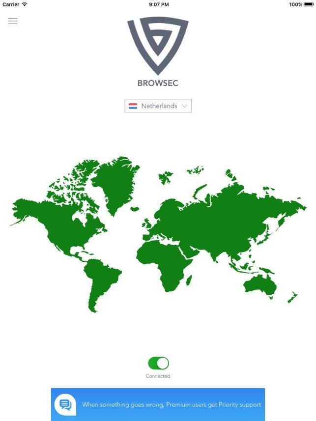 Browsec VPN - Unlimited VPN Screenshot
