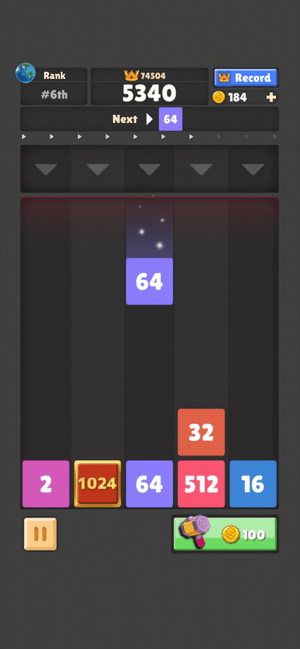 Drop The Number : Merge Puzzle Screenshot