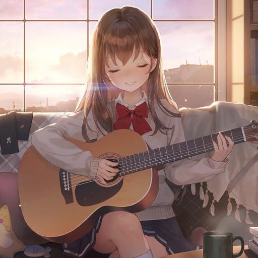 ギター少女:癒し系音楽ゲーム