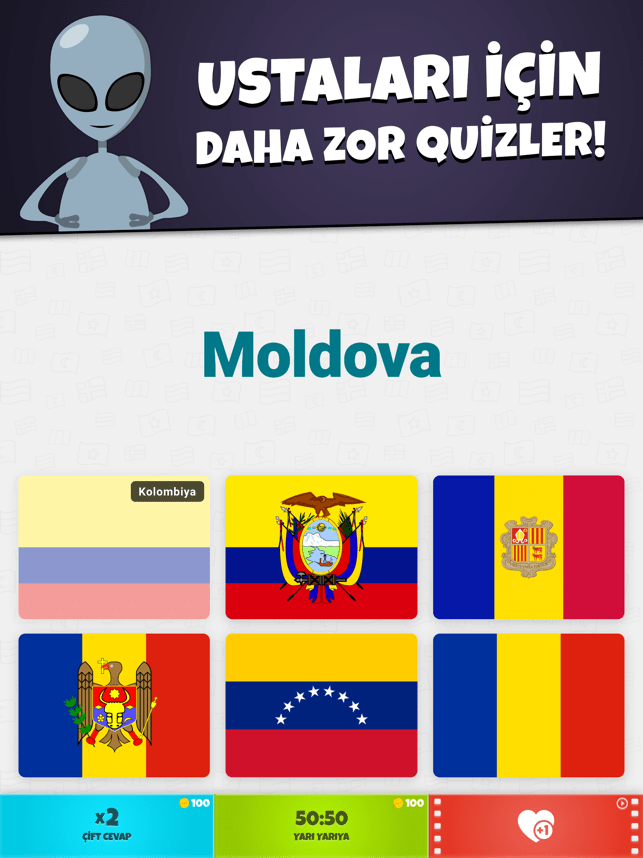 Ülke Bayrakları 2: Harita Quiz Screenshot