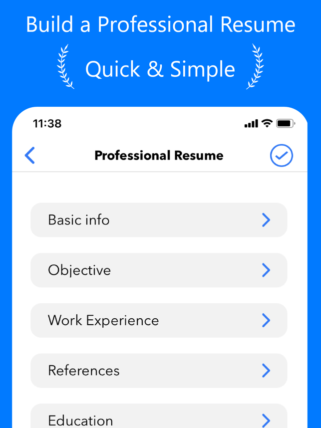 Resume Builder⁺ Screenshot