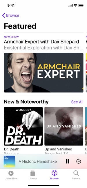 Apple Podcasts Screenshot