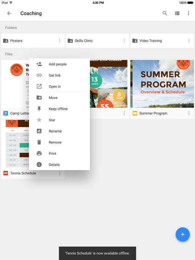 Google Drive - Dateispeicher Screenshot