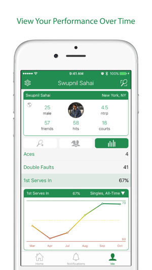 Swing Tennis Score Tracker Capture d'écran