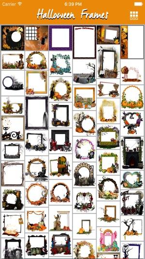 autumn halloween pic frames