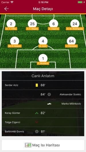 Galatasaray SK Screenshot