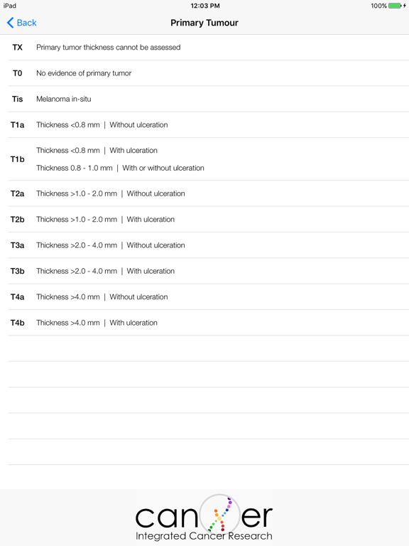 Télécharger Melanoma TNM8 pour iPhone / iPad sur l'App