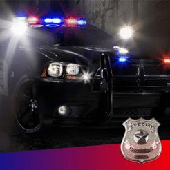 Polizei-Sirene Ton ~ Die beste Notfunk Auto klingt mit rot / blau Strobe (FREE)