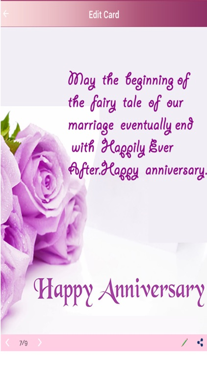 marriage anniversary greetings card