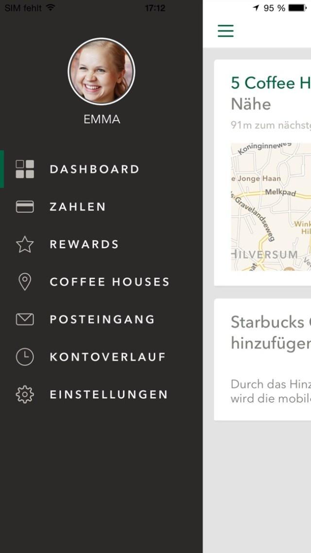 Starbucks Deutschland Screenshot