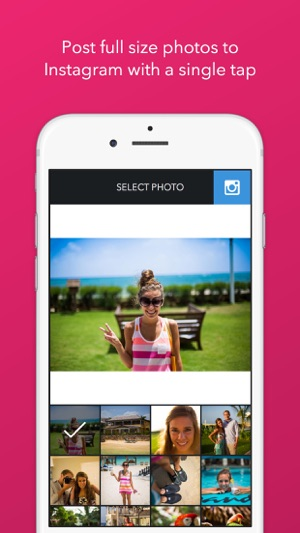 Trim - Post Full Size Photos to Instagram Screenshot
