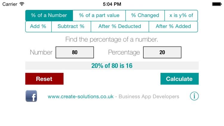 percentage calculator free by
