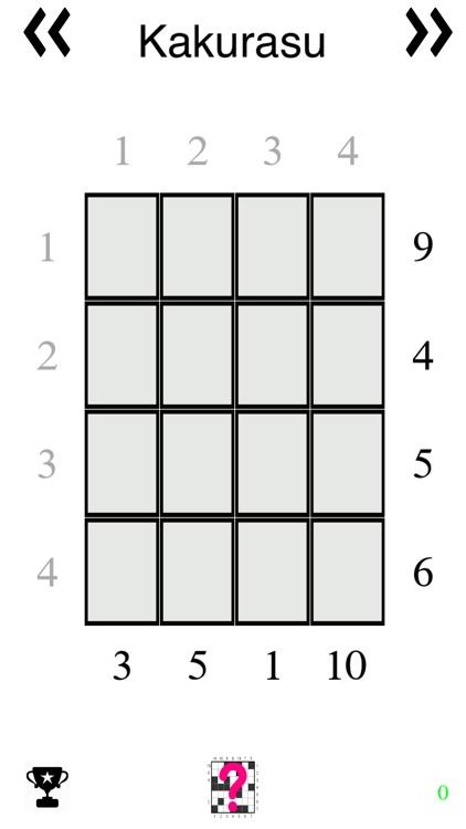 Kakurasu (Sudoku like Japanese Puzzle Game) by Ancientec
