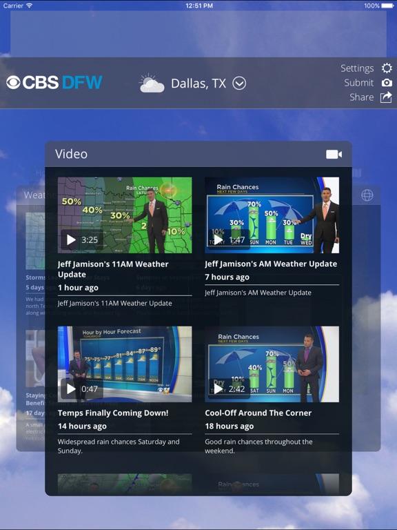 Cbs Dfw Weather Ios App - Resume Examples | Resume Template