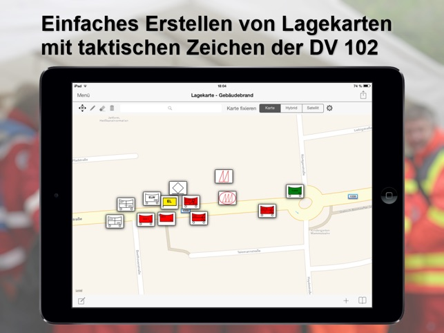 Mobile-Lagekarte Screenshot