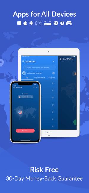 SaferVPN: Safe & fast VPN Screenshot