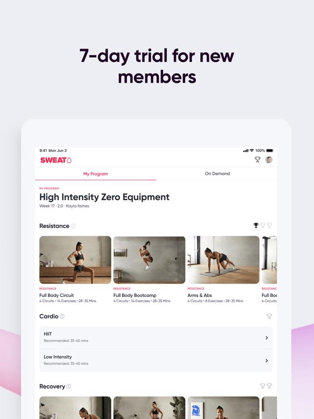 Sweat: Fitness App For Women Screenshot